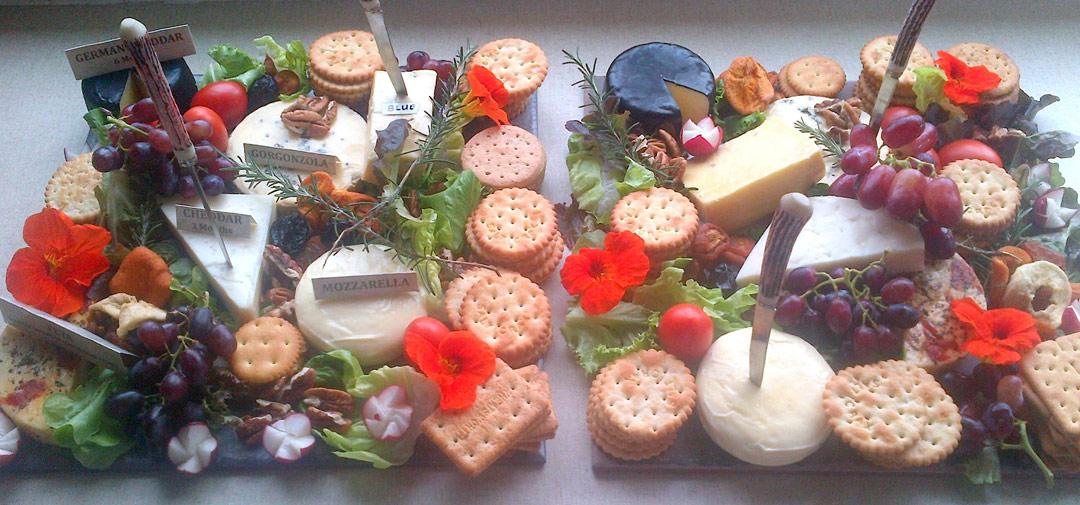 cheese platter display
